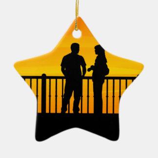 Couples Ornement Étoile En Céramique