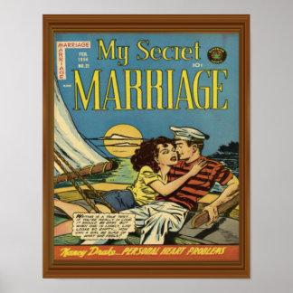 Couples Romance de voilier secret de mariage Posters