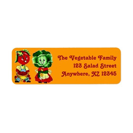 Couples végétaux vintages personnalisables étiquette d'adresse retour