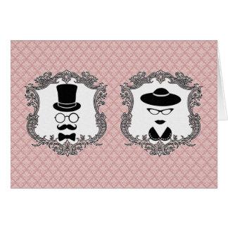 Couples vintages cartes
