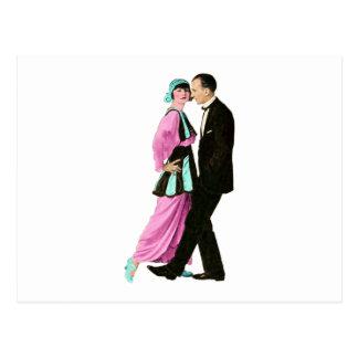 couples vintages de danse des années 1920 carte postale