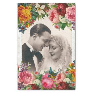Couples vintages en papier de soie de soie de