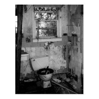 Coupure de salle de bains carte postale