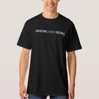 Coupure et T-shirt couru