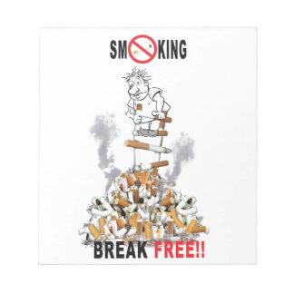 Coupure libre - cessez le tabagisme blocs notes
