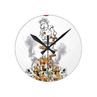 Coupure libre - cessez le tabagisme horloge ronde
