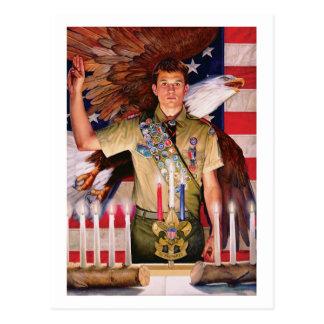 Cour d'Eagle de carte postale d'honneur