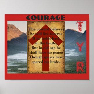 Courage de Havamal Poster