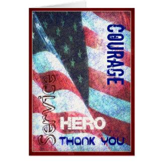Courage - héros - carte de jour de vétérans de