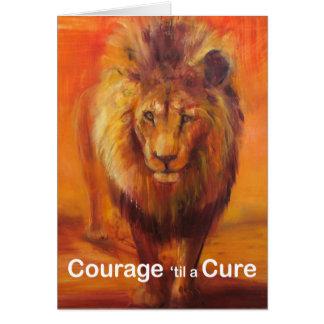 Courage 'jusqu'à une carte de note de traitement