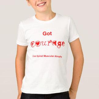 Courage obtenu - rouge t-shirt