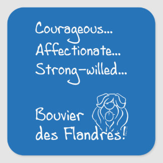 Courageous Bouvier Sticker Carré