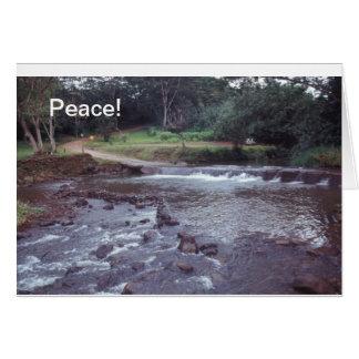 Courant d'Hawaï de carte pour notes de paix