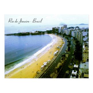Courbe de Copacabana, Rio de Janeiro, Brésil Carte Postale