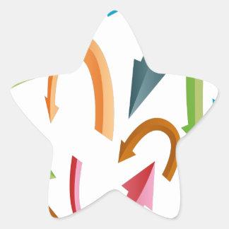 Courber l'ensemble de flèche sticker étoile