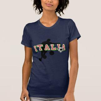 Courbure de footballeurs de logo de l'Italie il T-shirt