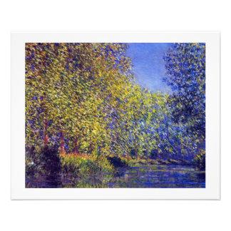 Courbure de peinture de Monet en rivière d'Epte pr Prospectus