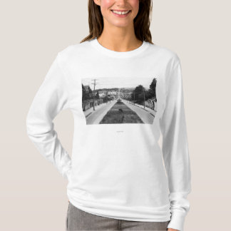 Courbure du nord, photographie de vue de ville de t-shirt