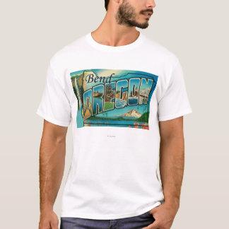 Courbure, lettre ScenesBend d'OregonLarge, OU T-shirt