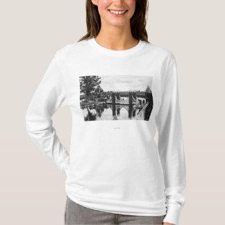 Courbure, photographie de jardin de roche de t-shirt
