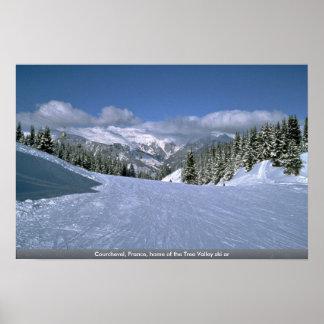 Courchevel France maison du ski AR de vallée d a Posters