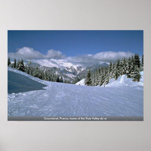Courchevel, France, maison du ski AR de vallée d'a Posters