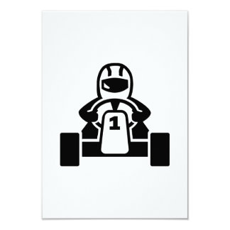 Coureur de kart carton d'invitation 8,89 cm x 12,70 cm