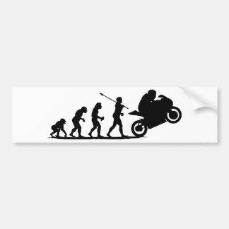 Coureur de vélo autocollant de voiture