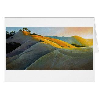 Coureurs sur le poly canyon cartes de vœux