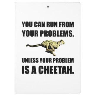 Courez des problèmes à moins que guépard