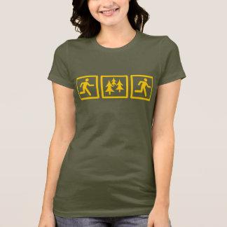 Courez les femmes de course de forêt t-shirt