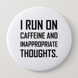 Courez les pensées inadéquates de caféine badges