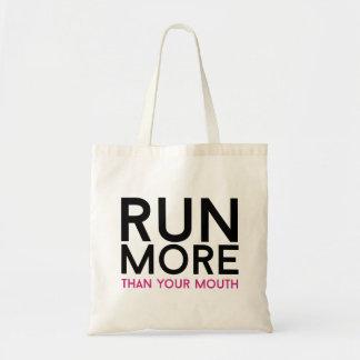 Courez plus que votre bouche sac en toile