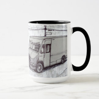 Courier Van Mug