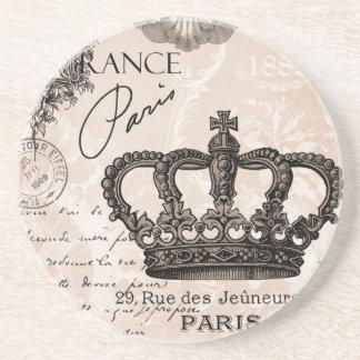 couronne chic minable française vintage moderne dessous de verres