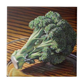 Couronne de brocoli petit carreau carré
