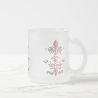 Couronne de coeur de Fleur - rose Tasse Givré