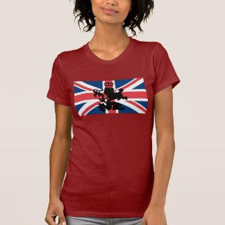 Couronne de lion d'Union Jack T-shirt