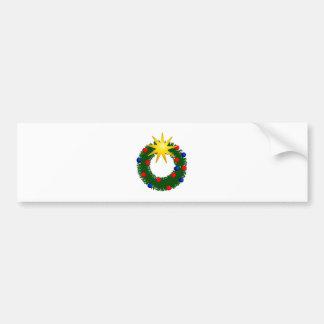 Couronne de Noël christmas wreath Autocollant Pour Voiture