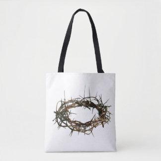 Couronne de sac de cadeau des épines blanche