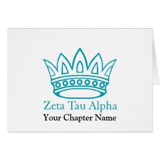Couronne de ZTA avec ZTA Cartes De Vœux