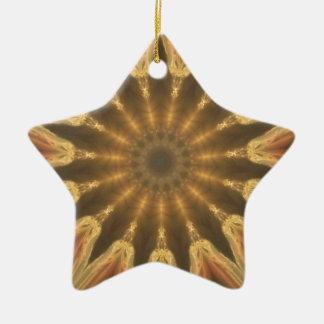 Couronne d'or ornement étoile en céramique