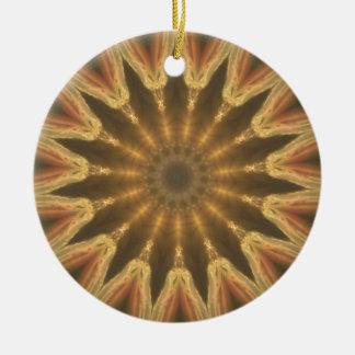 Couronne d'or ornement rond en céramique
