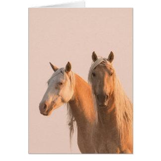 Couronne et Cheyenne à la carte de voeux de cheval