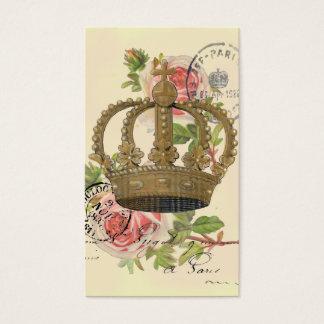 Couronne et roses cartes de visite
