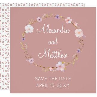 Couronne florale de mariage - faites gagner la carton d'invitation  13,33 cm