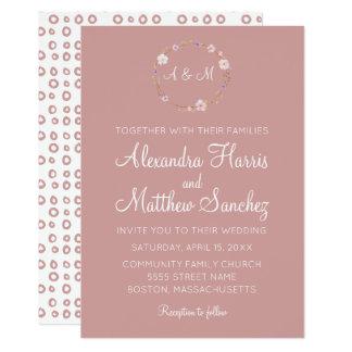 Couronne florale de mariage - invitation