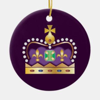 Couronne royale traditionnelle ornement rond en céramique