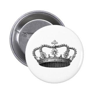Couronne vintage noire et blanche badge