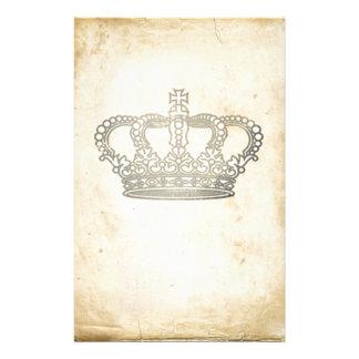 Couronne vintage papier à lettre personnalisable